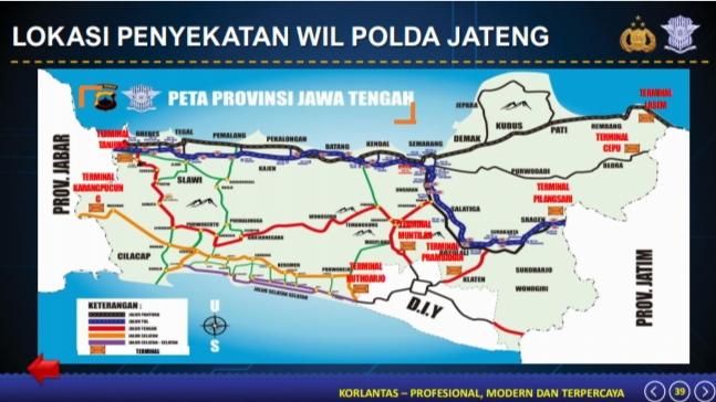 Peta Penyekatan Jateng